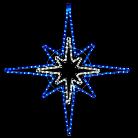 LED Blue and White Star