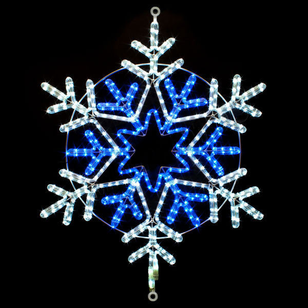 "31"" Blue and White Snowflake 