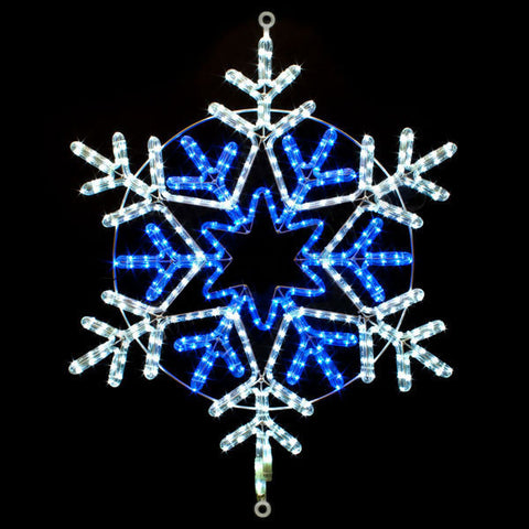 "31"" Blue and White Snowflake"