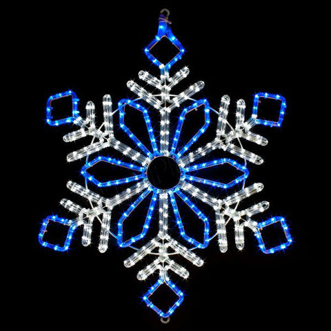 "32"" Blue and White LED Snowflake 