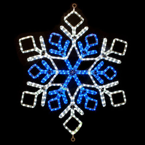 "31"" Blue and White LED Snowflake 