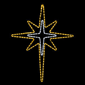 Gold and White Bethlehem Star | All American Christmas Co