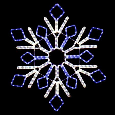 "32"" Blue and White Snowflake"
