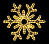 "18"" Hanging 6 Point Snowflake 