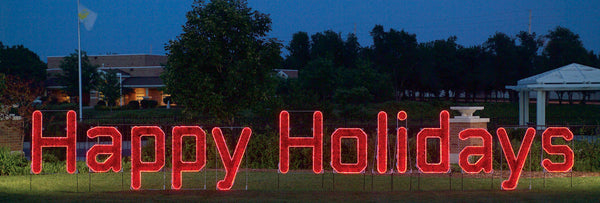 Large Happy Holidays Sign | All American Christmas Co