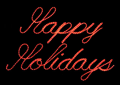 Happy Holidays Script Sign