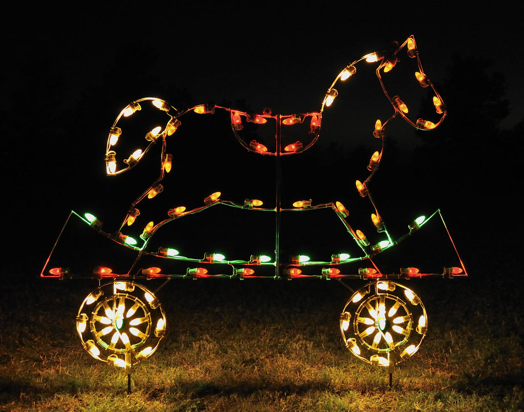 horse christmas lights outdoor all american christmas