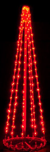 Red 6' 3D Tree - Twinkle
