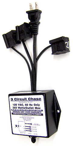 3 Circuit Chasing Controller - 3 Amp | All American Christmas Co