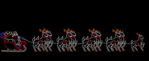 Santa Sleigh with 9 Reindeer | All American Christmas Co