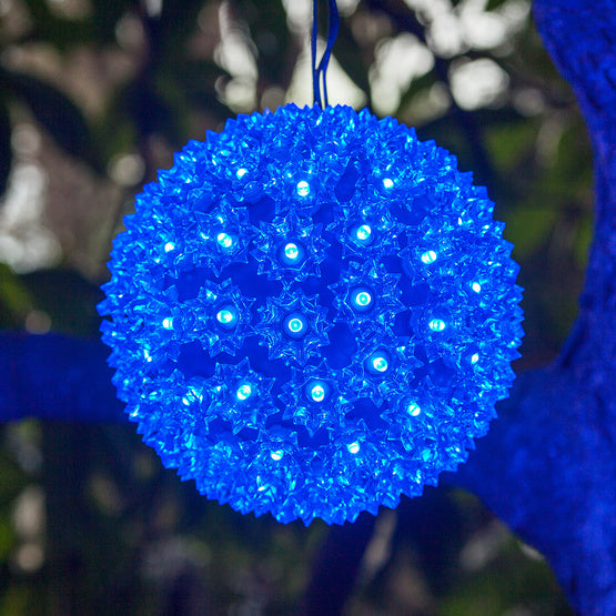 LED Starlight Sphere - 7.5 Inch - 100 Count - Blue | All American Christmas Co