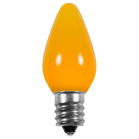 Opaque C7 LED Bulbs - Yellow - 25 Pack