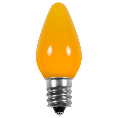 Opaque C7 LED Bulbs - Yellow - 25 Pack | All American Christmas Co