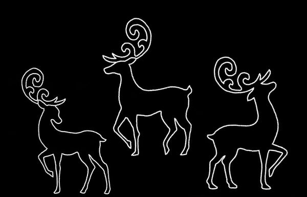 Elegant Deer - Set of 3