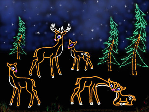 Graceful Deer Scene | All American Christmas Co