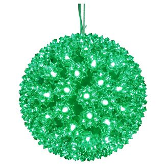 LED Starlight Sphere - 10 Inch - 150 Count - Green | All American Christmas Co