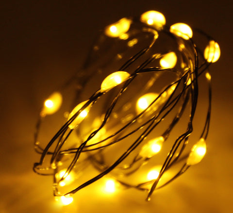 Ultra Thin LED Battery Lights - 18 count - Amber | All American Christmas Co