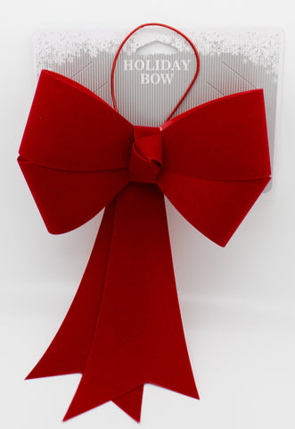 "8""x 13"" Red Flocked Bow 
