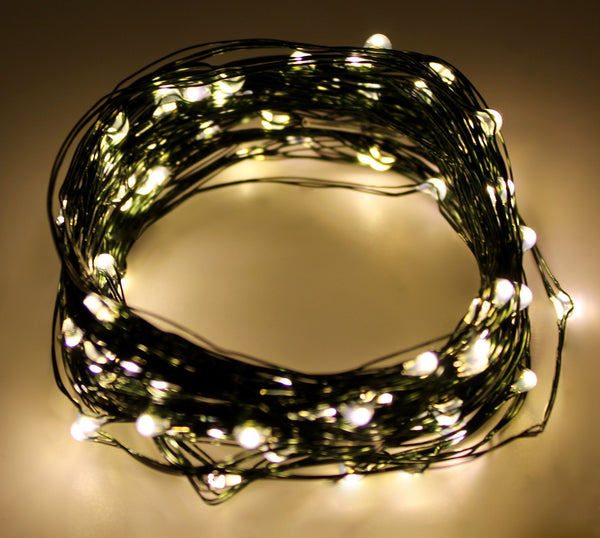 Ultra Thin LED Lights - 100 count - Warm White