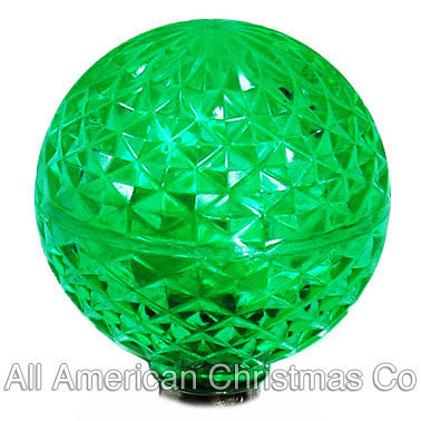G40 LED Patio Lights - E-12 - Green - 25 Pack | All American Christmas Co