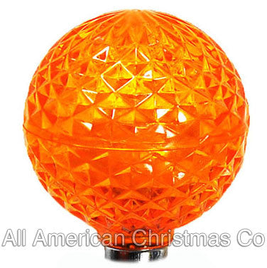 G40 LED Patio Lights - E-12 - Orange - 25 Pack | All American Christmas Co