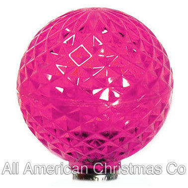 G40 LED Patio Lights - E-12 - Pink - 25 Pack | All American Christmas Co