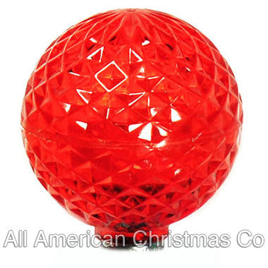 G40 LED Patio Lights - E-12 - Red - 25 Pack | All American Christmas Co