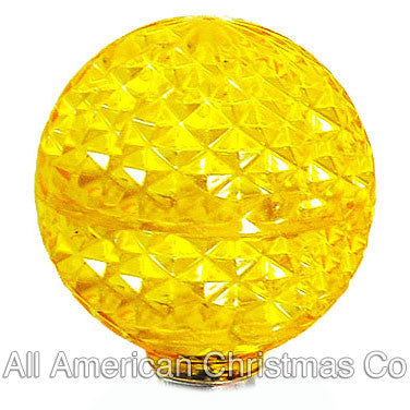 G40 LED Patio Lights - E-12 - Yellow - 25 Pack | All American Christmas Co