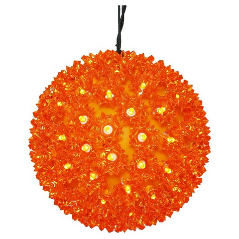 LED Starlight Sphere - 10 Inch - 150 Count - Orange