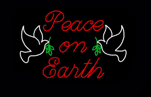Peace on Earth with Doves | All American Christmas Co