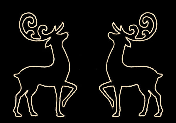 Prancing Deer - Set of 2