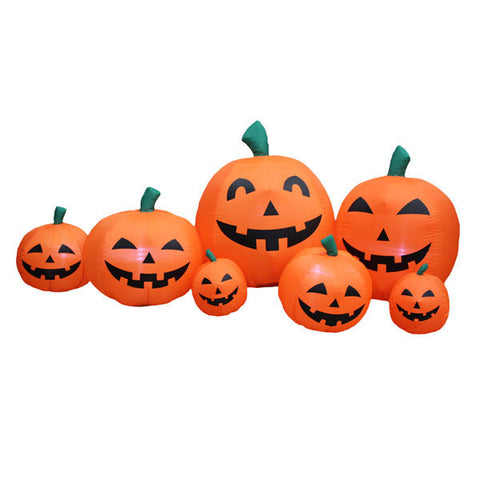 Pumpkin Head Family Inflatable | All American Christmas Co