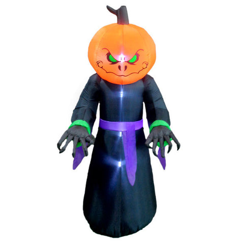 Scary Pumpkin Monster Man Inflatable | All American Christmas Co