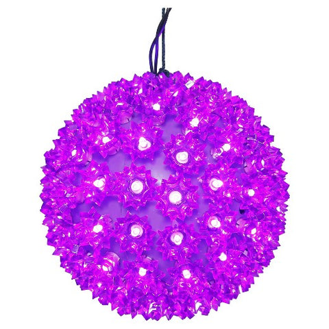 LED Starlight Sphere - 6 Inch - 50 Count - Purple | All American Christmas Co