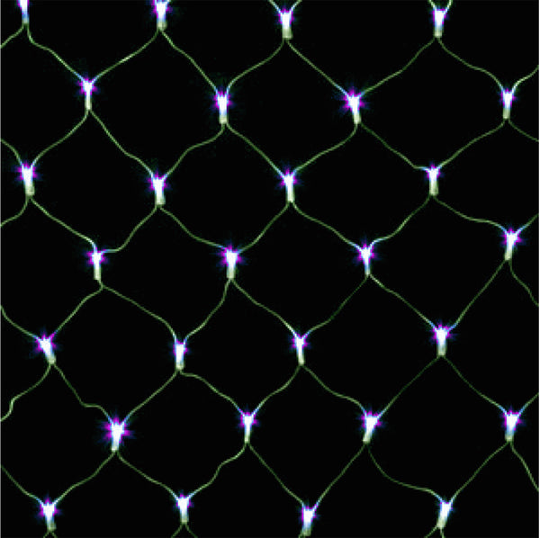 Wide Angle LED Net Lights - 100 Count - Purple - Case