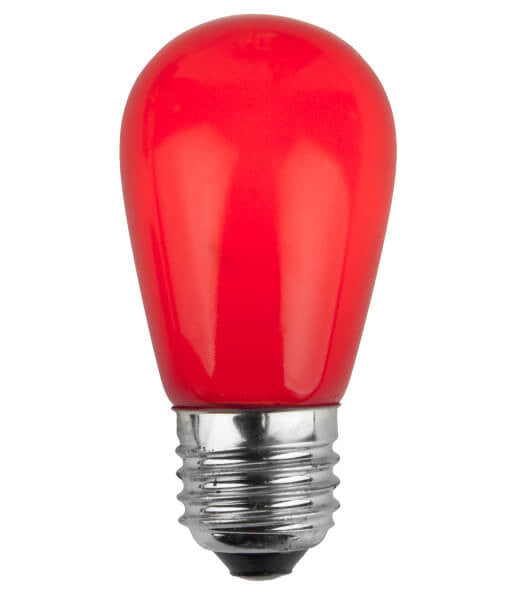 T50 Opaque LED Patio Lights - E-26 - Red - 25 Pack