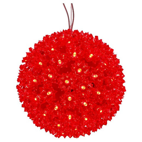 LED Starlight Sphere - 7.5 Inch - 100 Count - Red | All American Christmas Co
