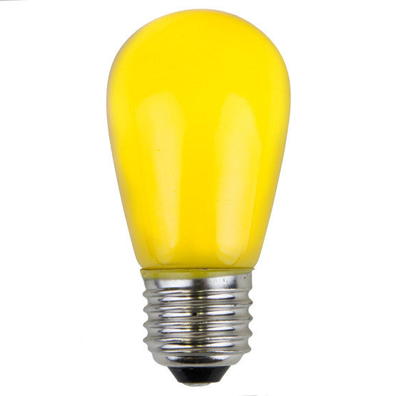 T50 Opaque LED Patio Lights - E-26 - Yellow - 25 Pack