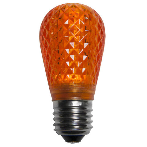T50 LED Patio Lights - E-26 - Orange - 10 Pack