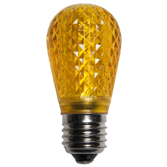 T50 LED Patio Lights - E-26 - Yellow - 10 Pack