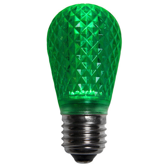 T50 LED Patio Lights - E-26 - Green - 10 Pack | All American Christmas Co