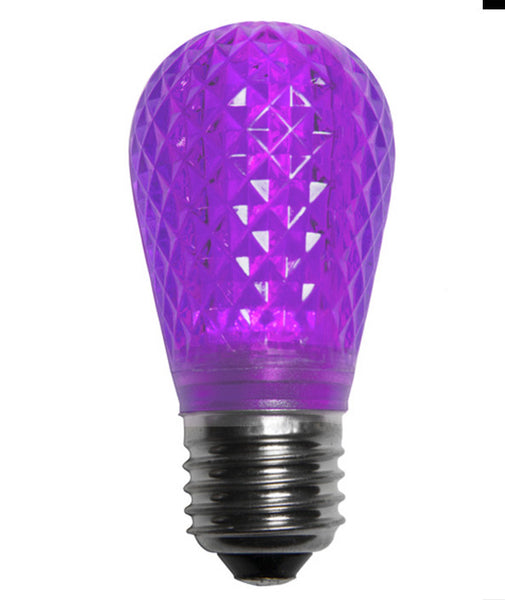 T50 LED Patio Lights - E-26 - Purple - 10 Pack