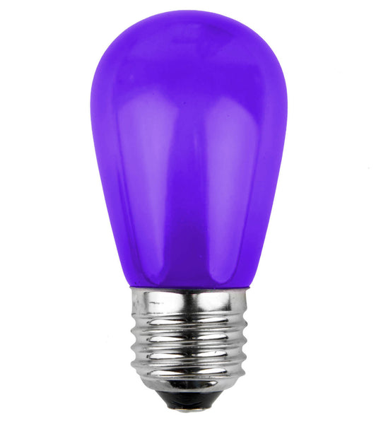 T50 Opaque LED Patio Lights - E-26 - Purple - 25 Pack | All American Christmas Co