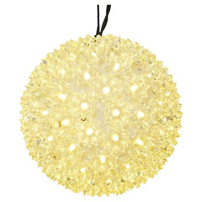 LED Starlight Sphere - 6 Inch - 50 Count - Warm White | All American Christmas Co