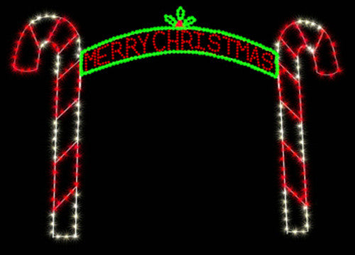 12' Merry Christmas Candy Cane Arch