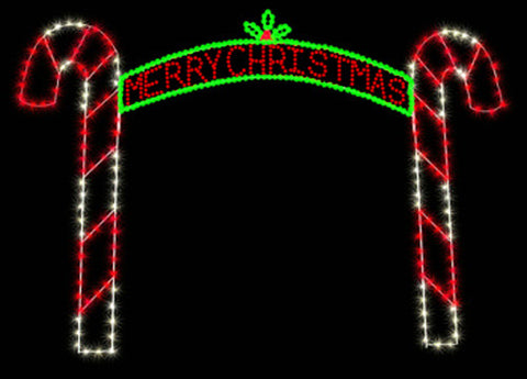 12' Merry Christmas Candy Cane Arch | All American Christmas Co
