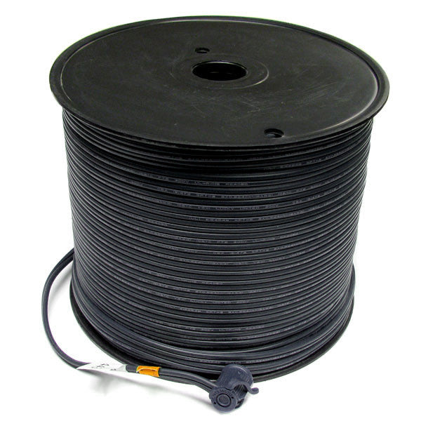 500' Bulk Wire Spool - Black Wire - SPT-2 | All American Christmas Co