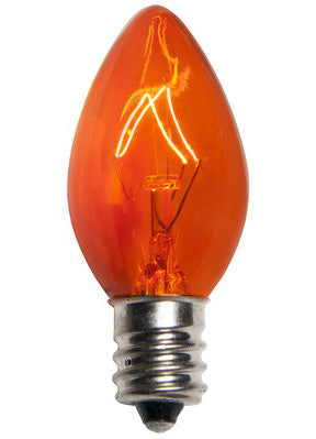 Triple Dip C7 Christmas Lights - Amber - Case of 1000
