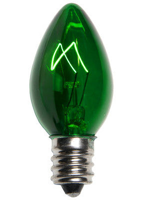 C7 Twinkle Lights - Green - 25 Pack