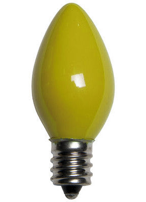C7 Opaque Lights - Yellow - 25 Pack | All American Christmas Co